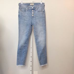 """Madewell Size 27 Jeans 9"""" High Rise Skinny Crop"""
